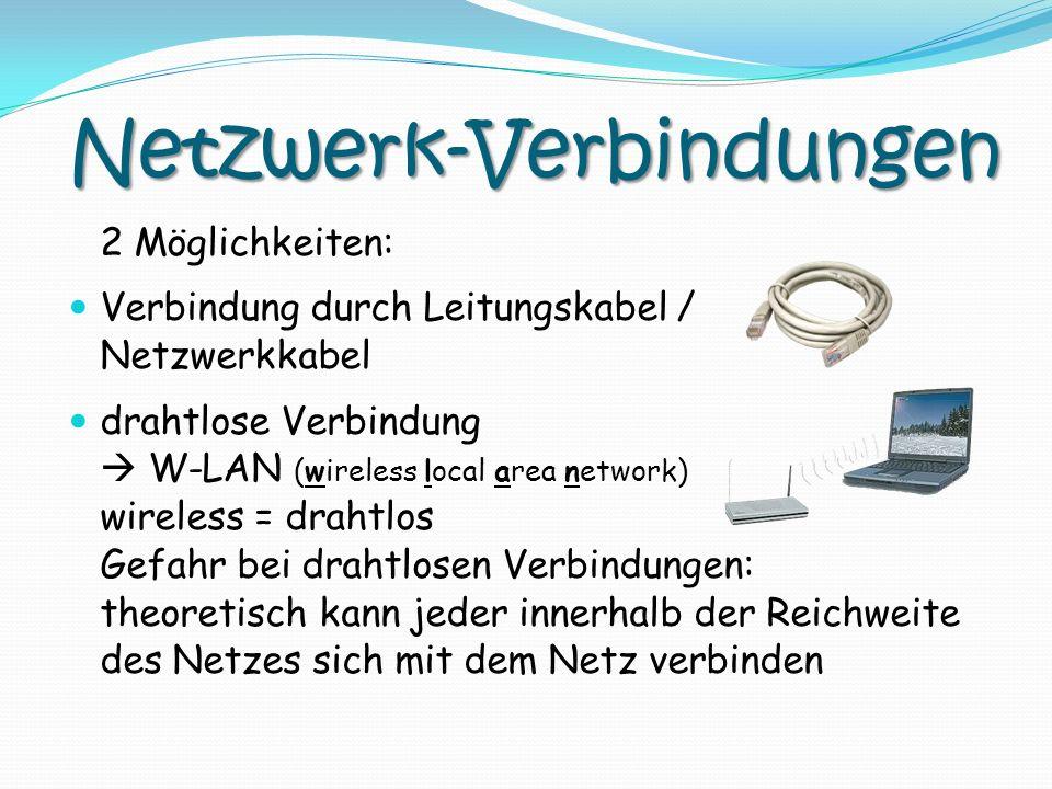 Netzwerk-Verbindungen