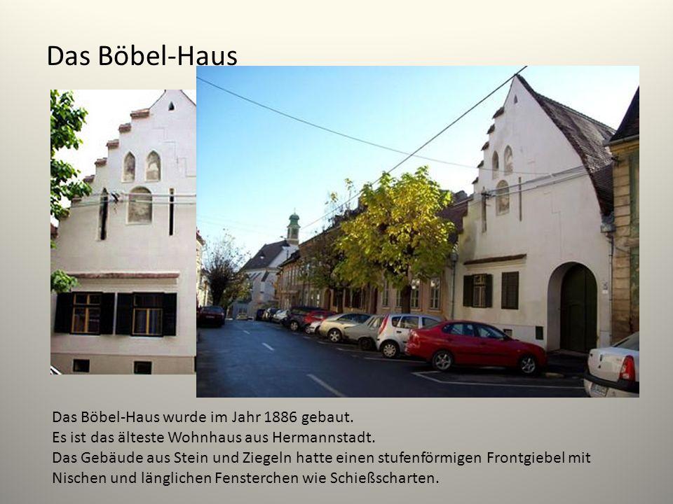Das Böbel-Haus Das Böbel-Haus wurde im Jahr 1886 gebaut.