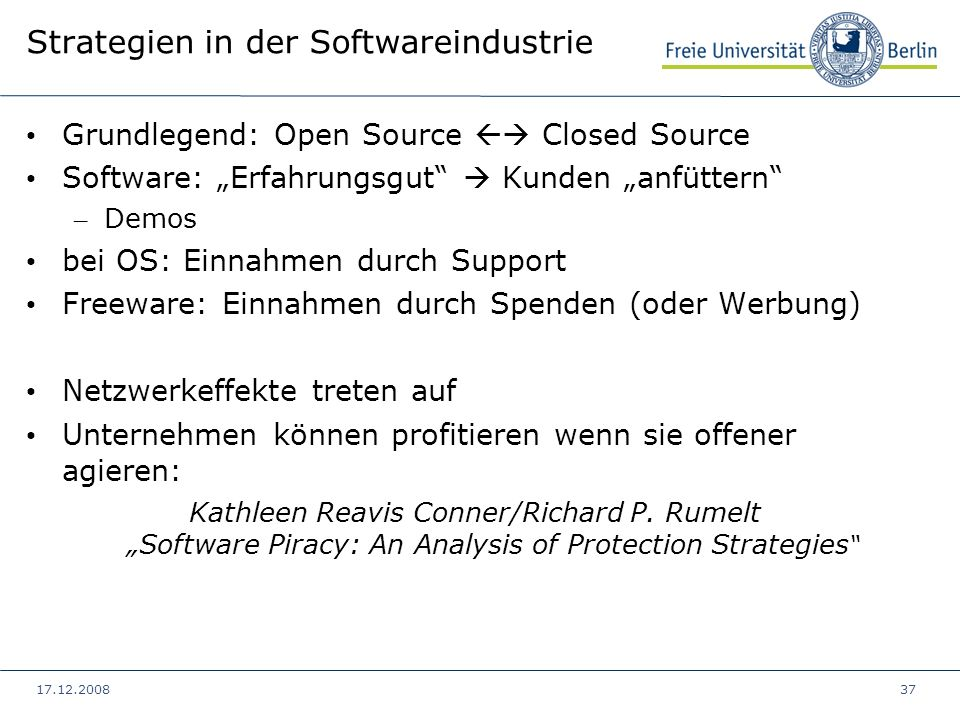 Strategien in der Softwareindustrie