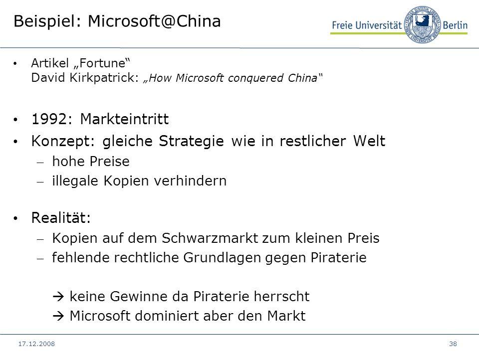 Beispiel: Microsoft@China