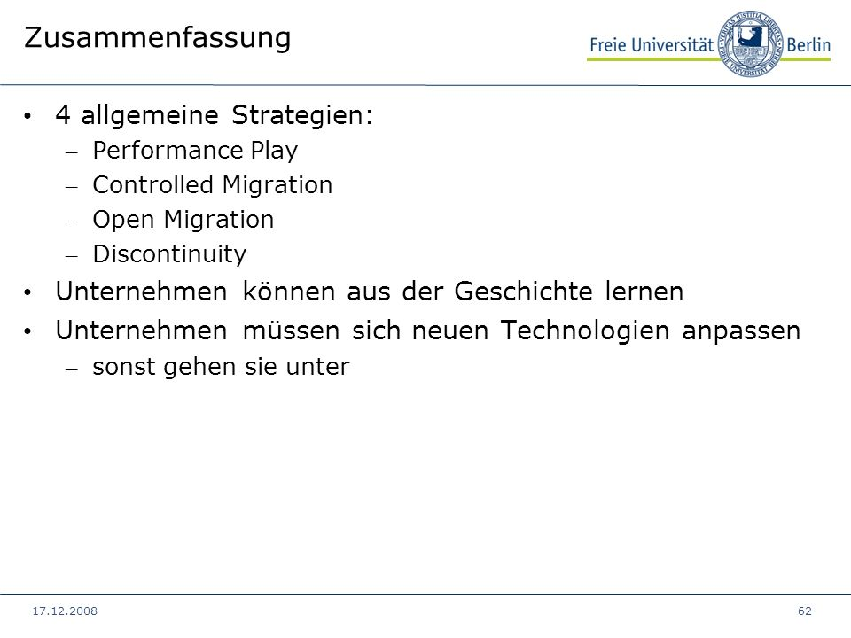 Zusammenfassung 4 allgemeine Strategien: