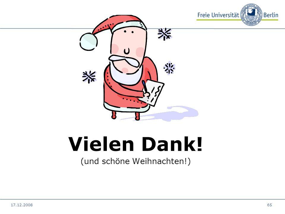 Vielen Dank! (und schöne Weihnachten!)