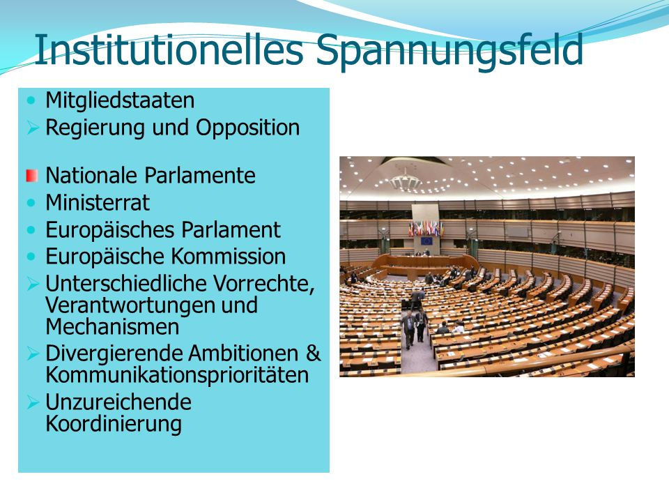 Institutionelles Spannungsfeld