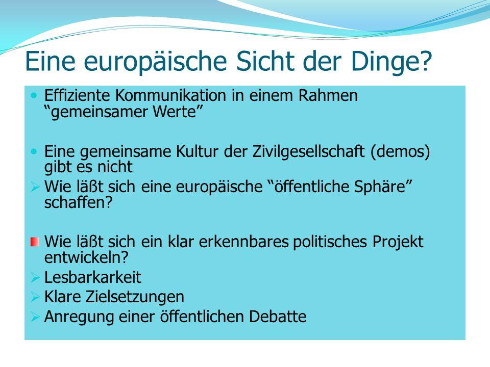 Eine europäische Sicht der Dinge