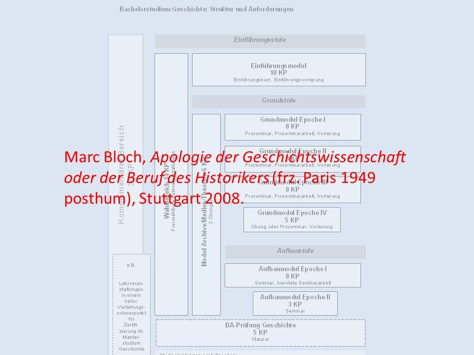 Marc Bloch, Apologie der Geschichtswissenschaft oder der Beruf des Historikers (frz.