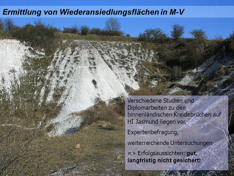 Ermittlung von Wiederansiedlungsflächen in M-V