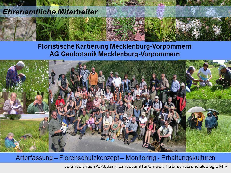 Arterfassung – Florenschutzkonzept – Monitoring - Erhaltungskulturen