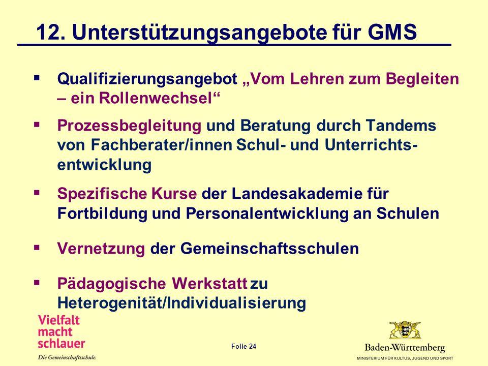 12. Unterstützungsangebote für GMS