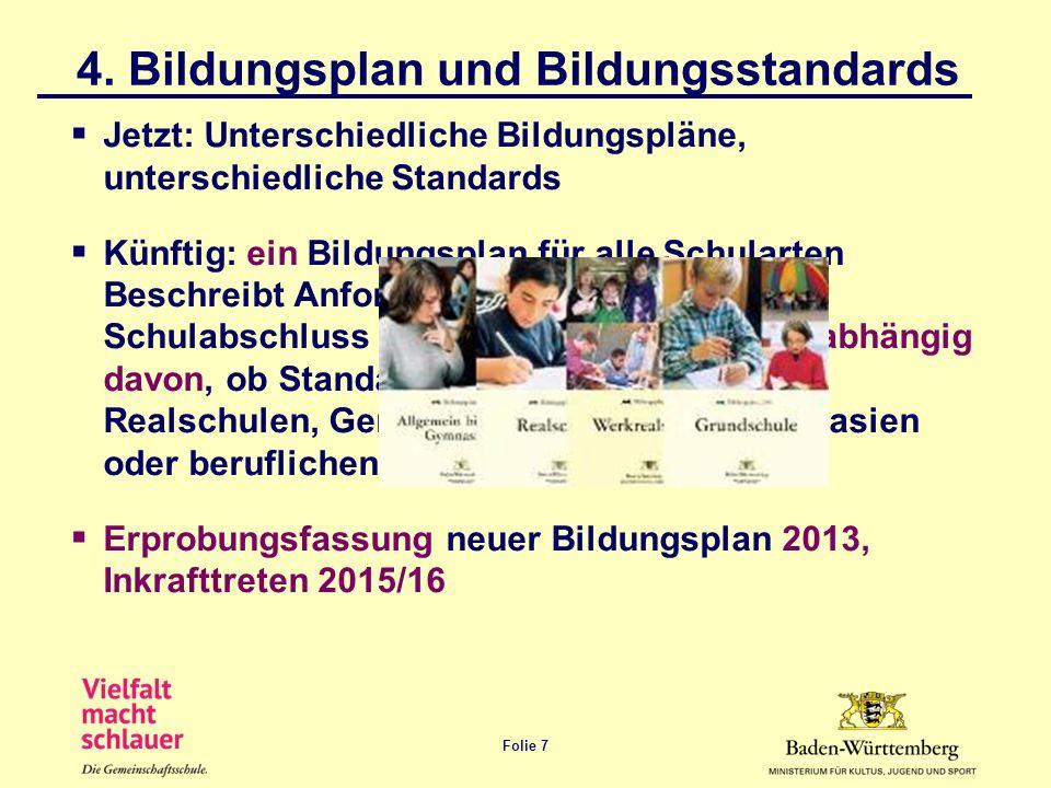 4. Bildungsplan und Bildungsstandards