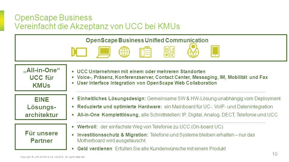 OpenScape Business Vereinfacht die Akzeptanz von UCC bei KMUs