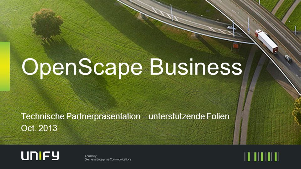 Technische Partnerpräsentation – unterstützende Folien Oct. 2013