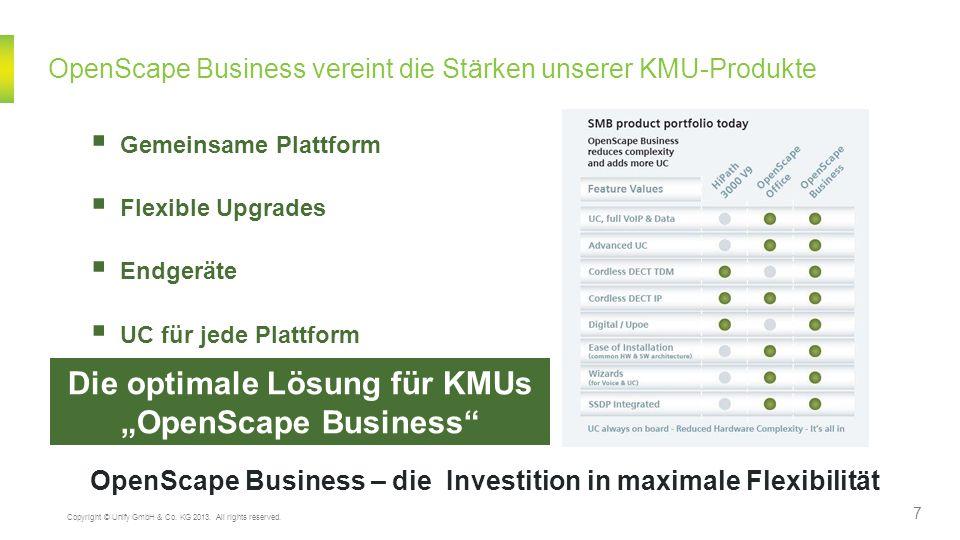 OpenScape Business vereint die Stärken unserer KMU-Produkte