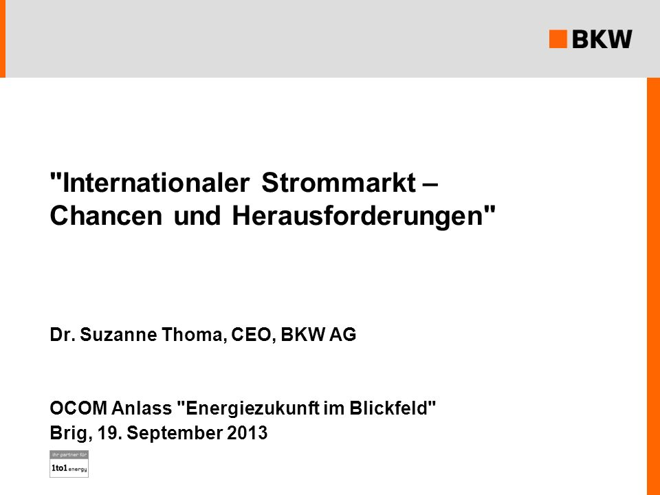 Internationaler Strommarkt – Chancen und Herausforderungen