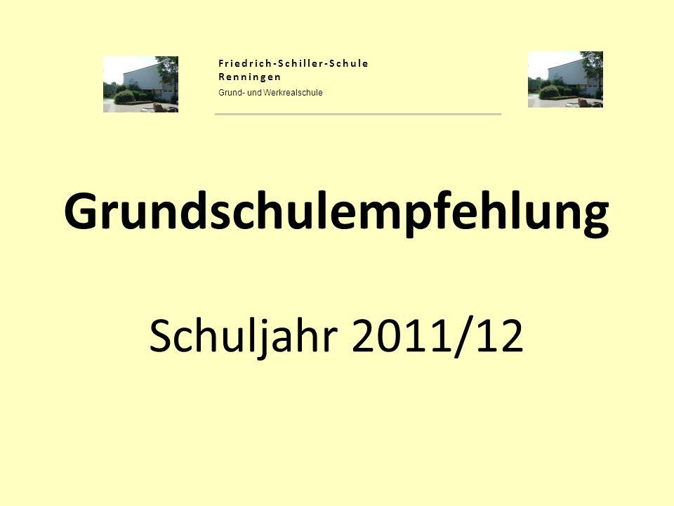 Grundschulempfehlung Schuljahr 2011/12