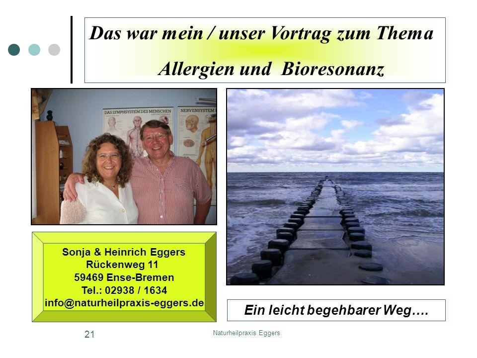 Sonja & Heinrich Eggers Ein leicht begehbarer Weg….