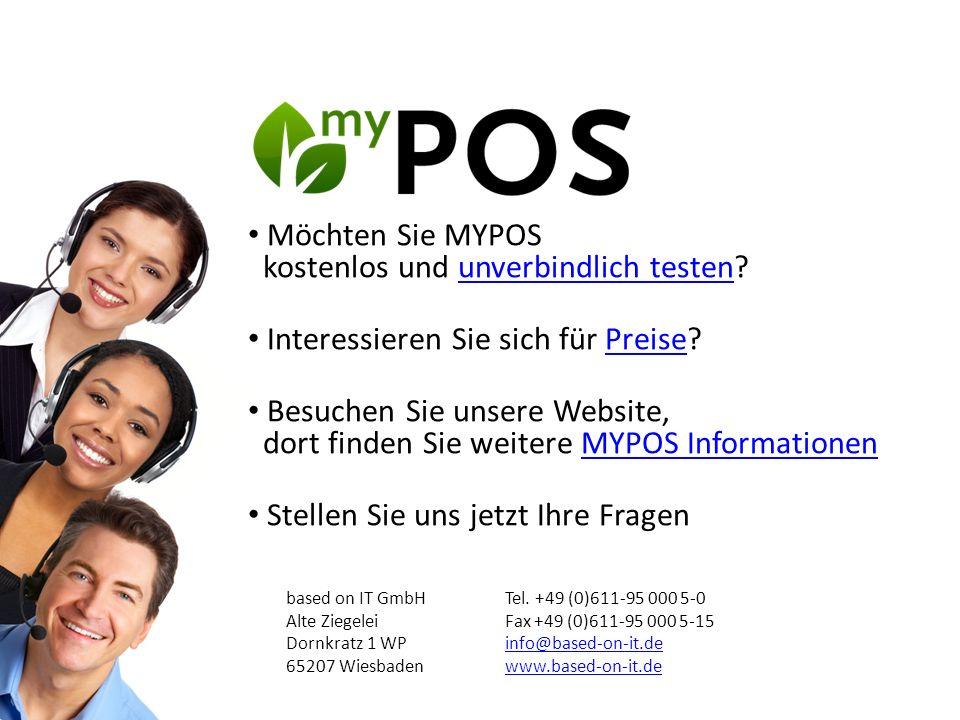 Möchten Sie MYPOS kostenlos und unverbindlich testen