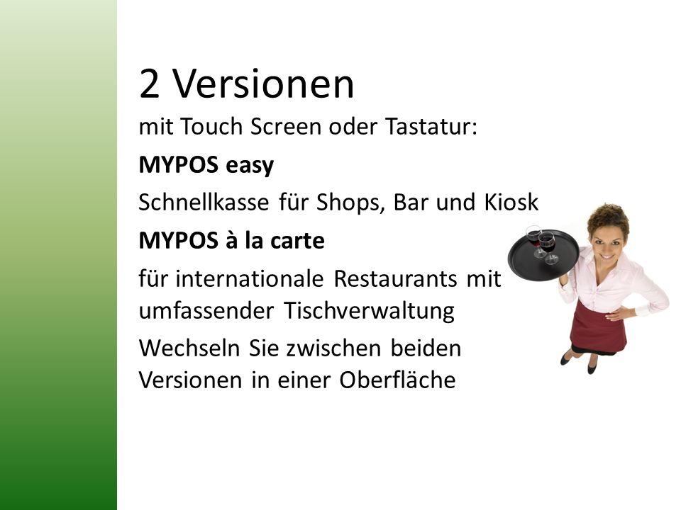 2 Versionen mit Touch Screen oder Tastatur: