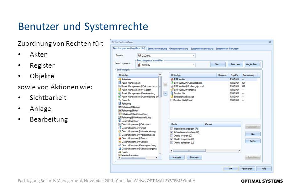 Benutzer und Systemrechte