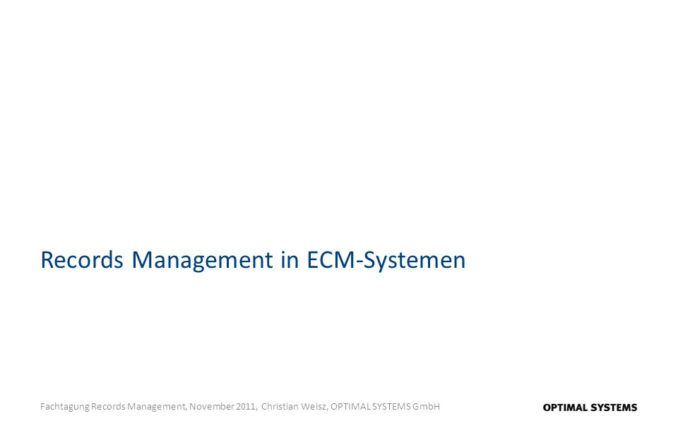 Records Management in ECM-Systemen
