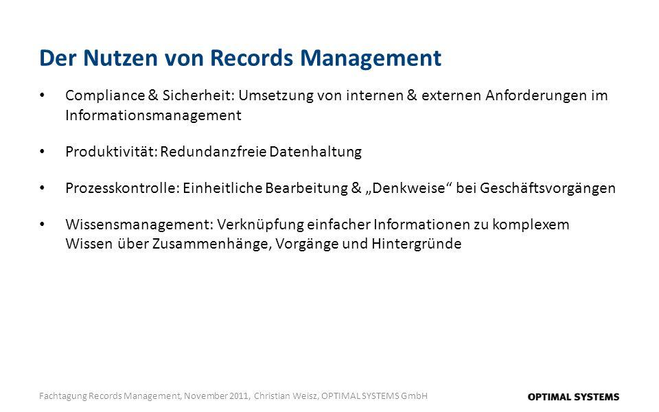 Der Nutzen von Records Management