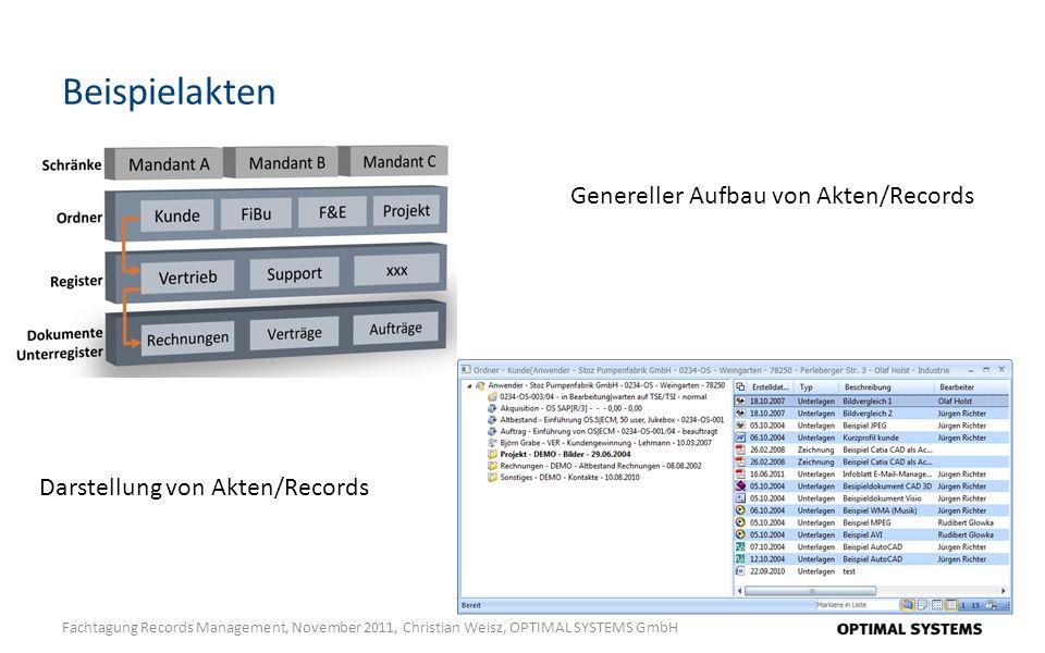 Beispielakten Genereller Aufbau von Akten/Records