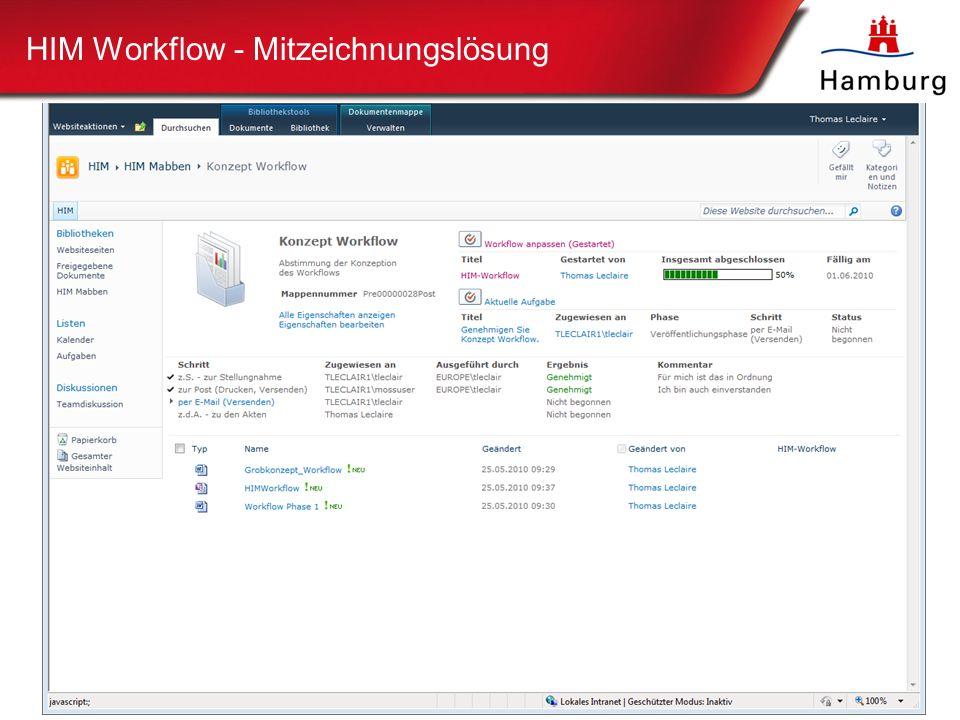 HIM Workflow - Mitzeichnungslösung