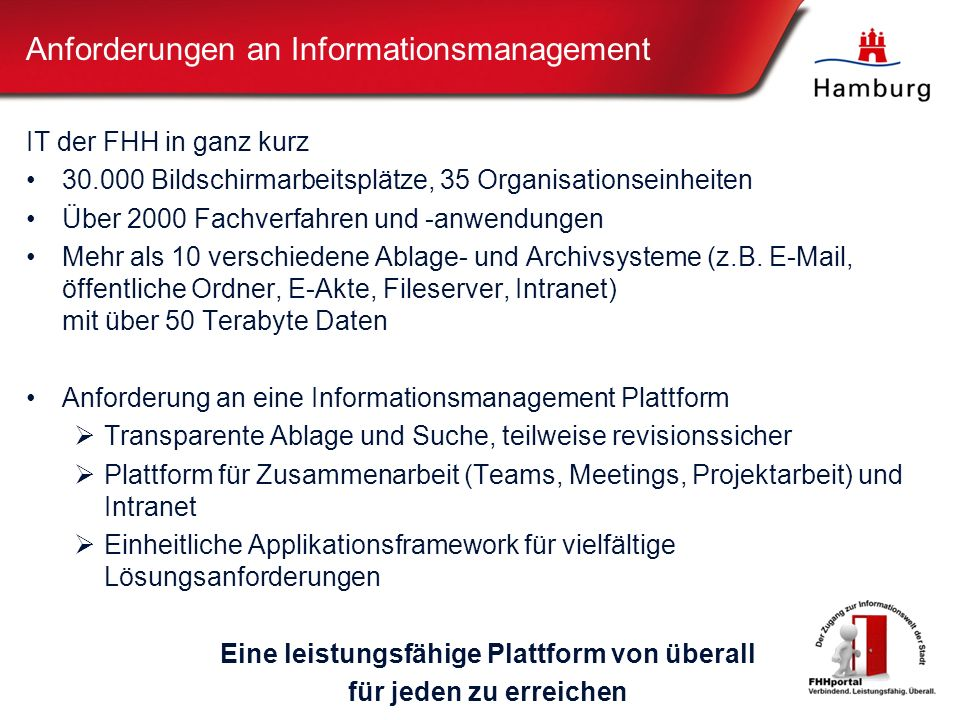 Anforderungen an Informationsmanagement