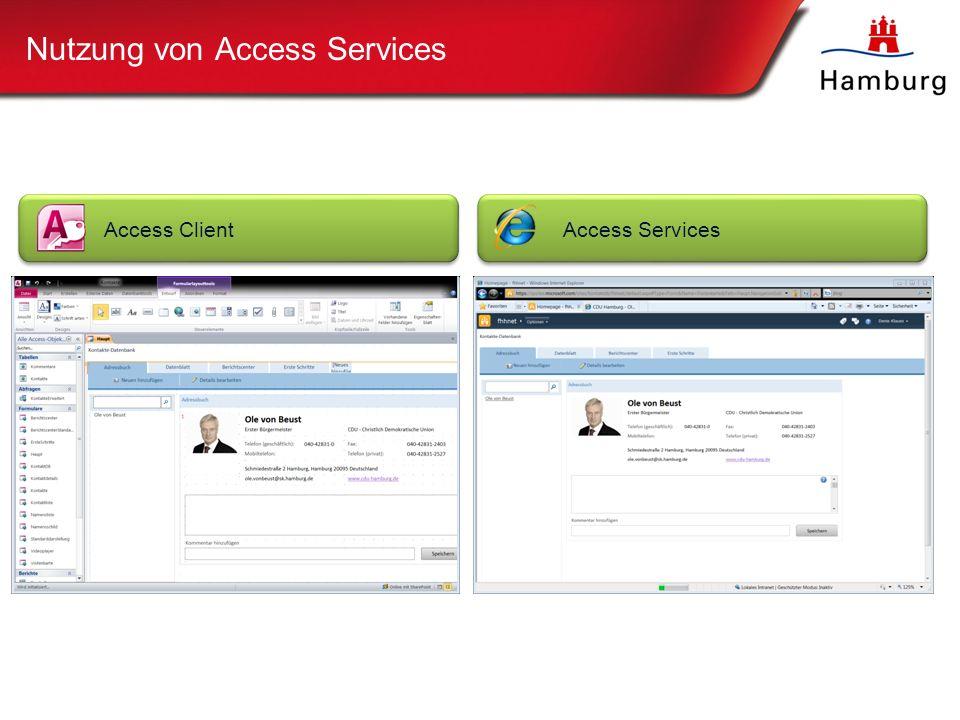 Nutzung von Access Services