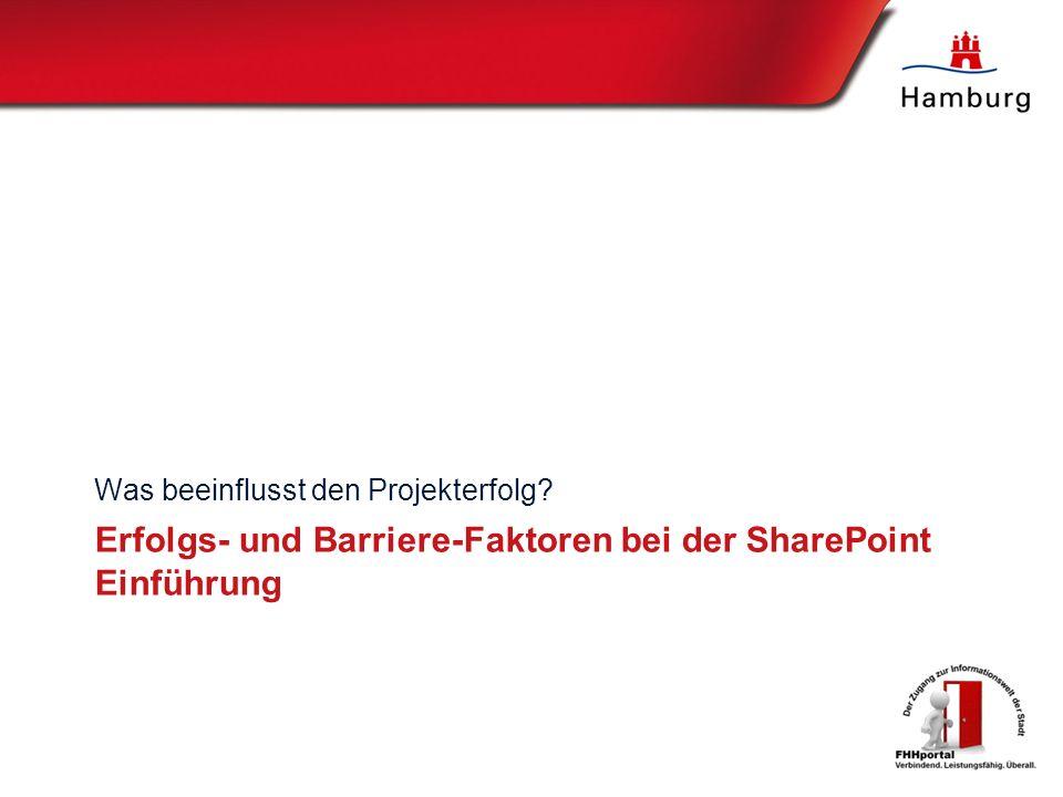 Erfolgs- und Barriere-Faktoren bei der SharePoint Einführung