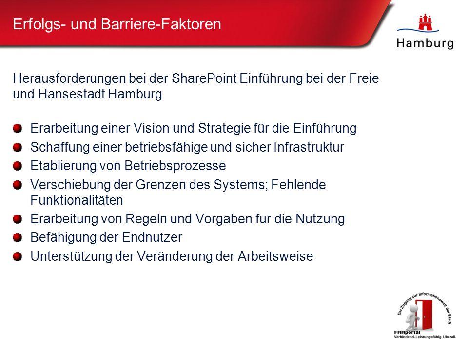 Erfolgs- und Barriere-Faktoren
