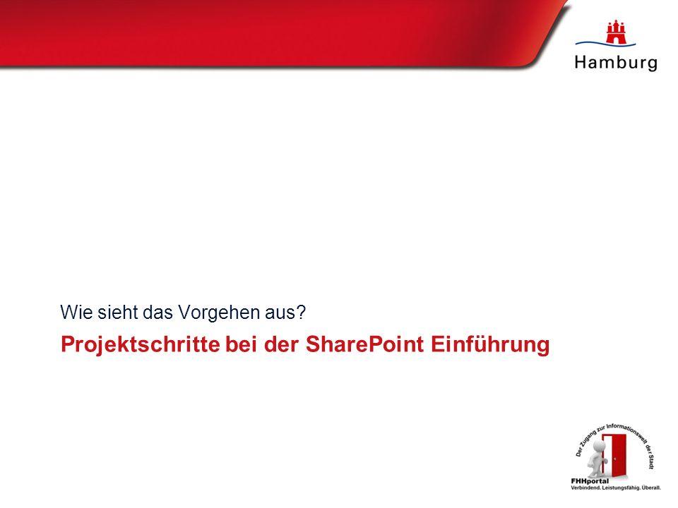 Projektschritte bei der SharePoint Einführung