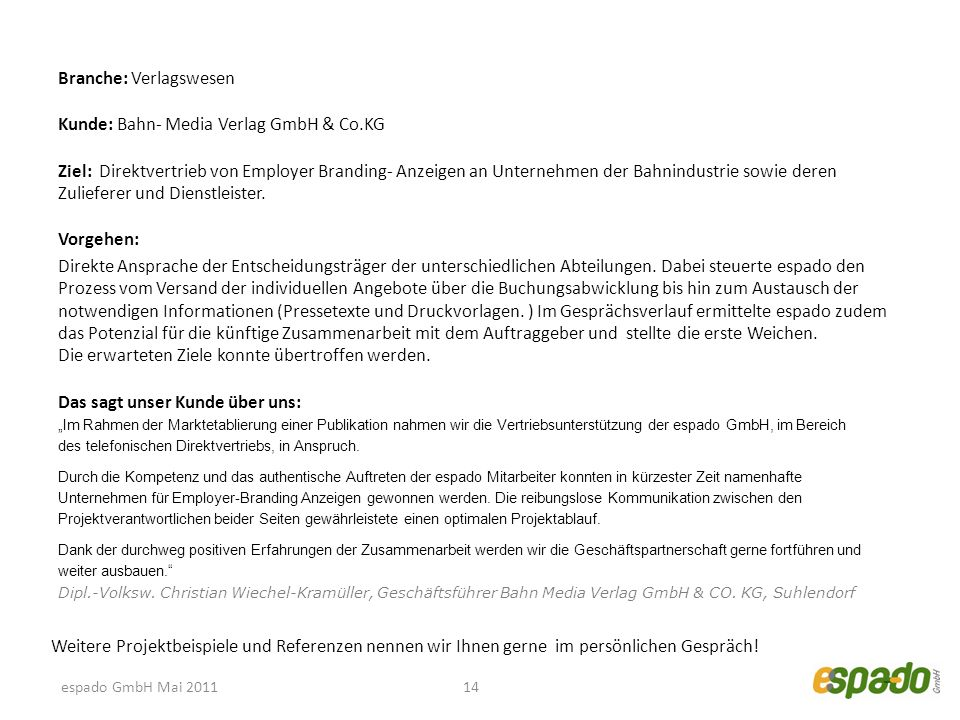 Branche: Verlagswesen Kunde: Bahn- Media Verlag GmbH & Co.KG