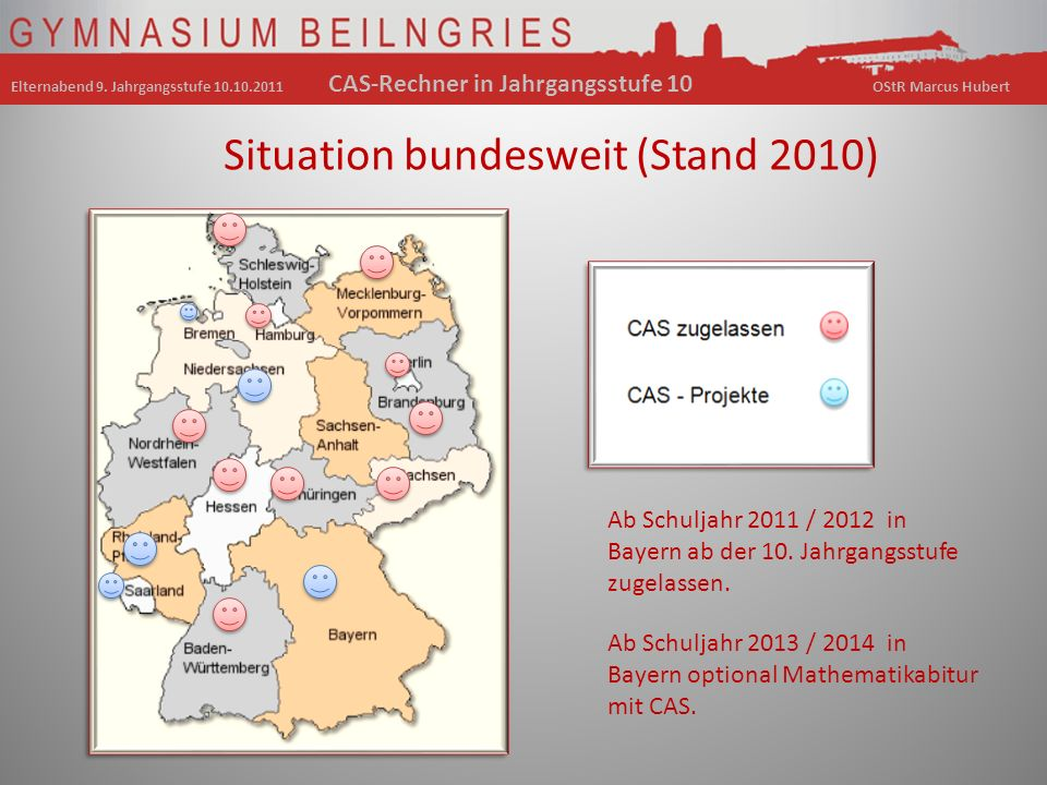 Situation bundesweit (Stand 2010)