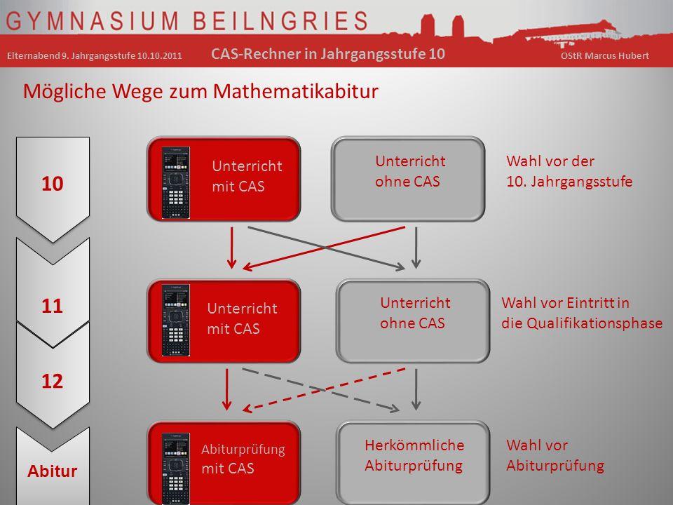 Mögliche Wege zum Mathematikabitur