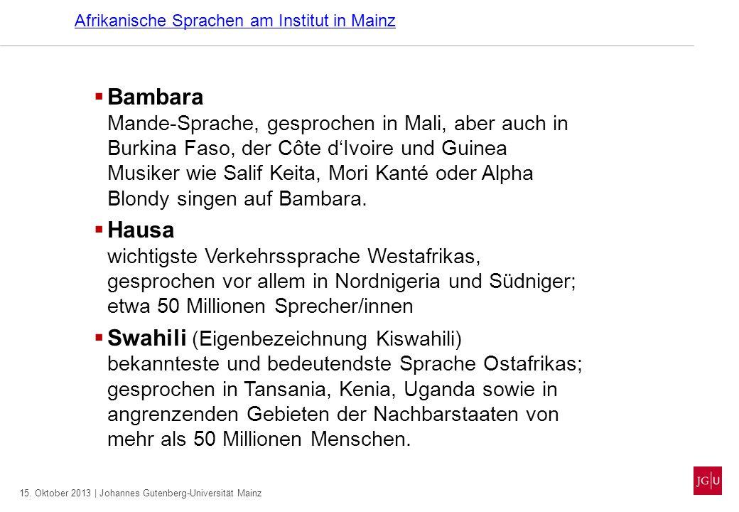 Afrikanische Sprachen am Institut in Mainz