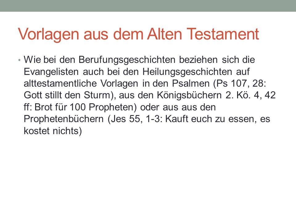 Vorlagen aus dem Alten Testament