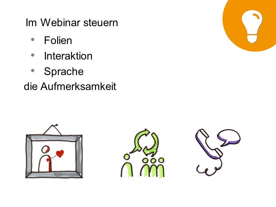 Im Webinar steuern Folien Interaktion Sprache die Aufmerksamkeit