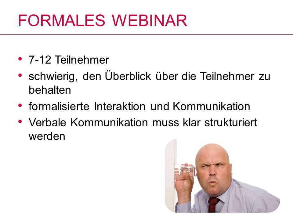 Formales Webinar 7-12 Teilnehmer