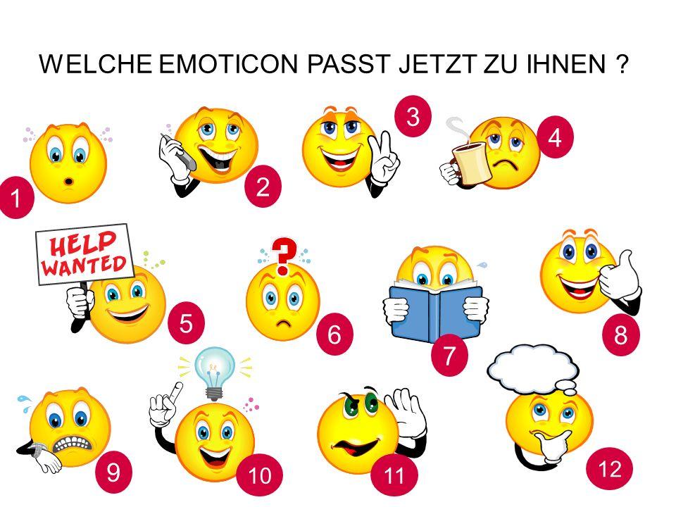 Welche Emoticon passt jetzt zu Ihnen