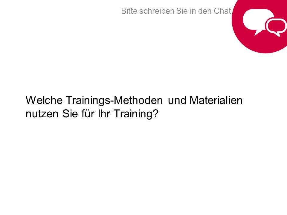 Welche Trainings-Methoden und Materialien nutzen Sie für Ihr Training