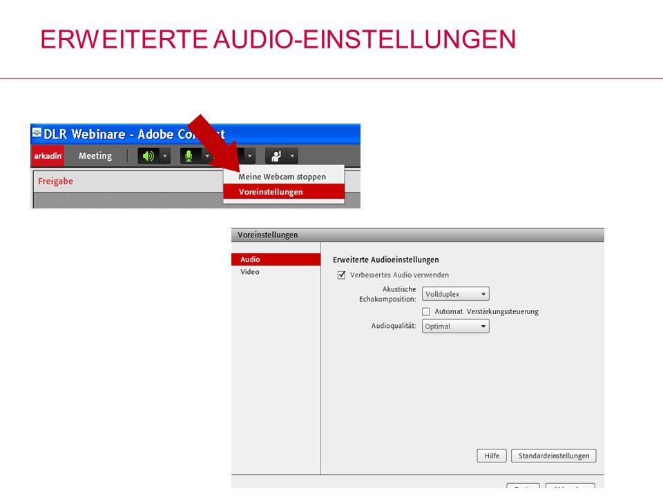 Erweiterte Audio-Einstellungen