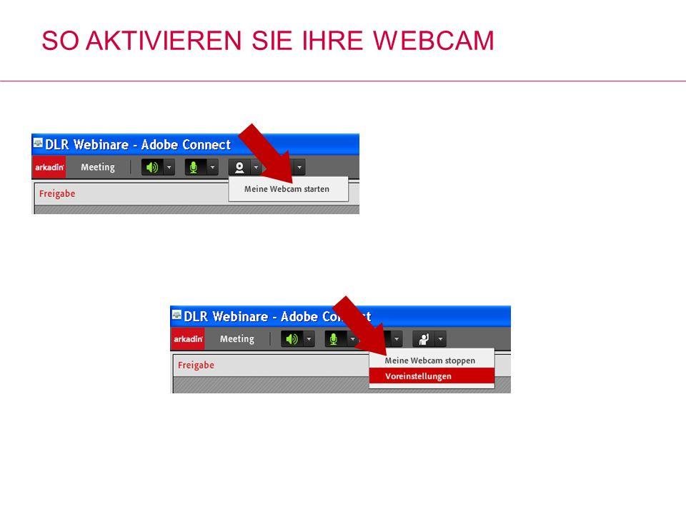 So aktivieren Sie Ihre WebCam