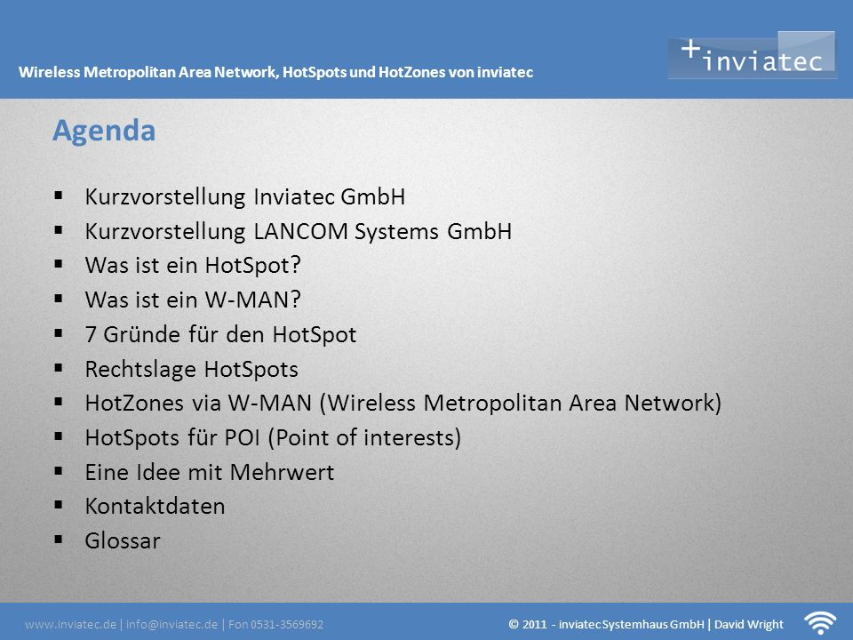 Fehmarn Hotsots Agenda Kurzvorstellung Inviatec GmbH