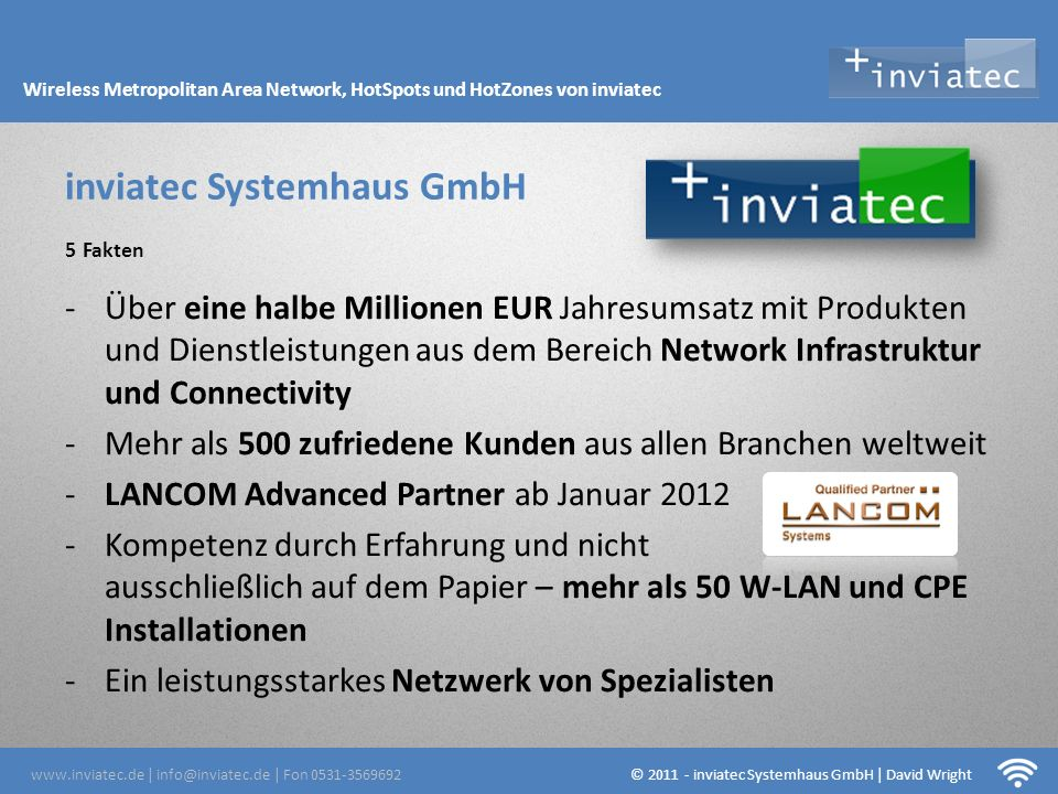 Fehmarn Hotsots inviatec Systemhaus GmbH 5 Fakten