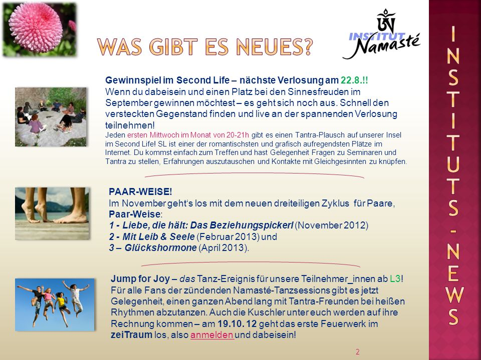 Instituts Was gibt es neues -news