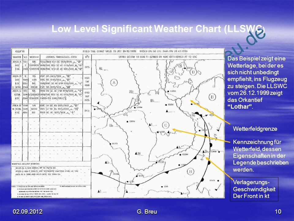 Low Level Significant Weather Chart (LLSWC)