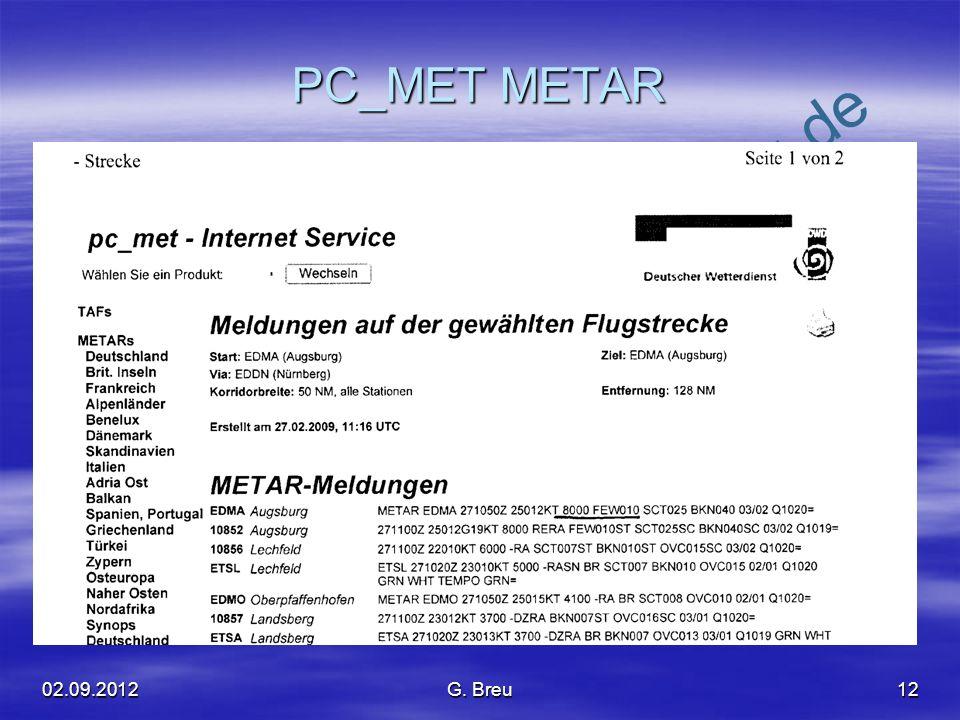PC_MET METAR 02.09.2012 G. Breu