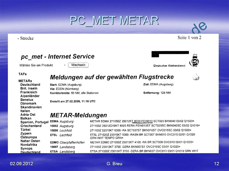PC_MET METAR G. Breu
