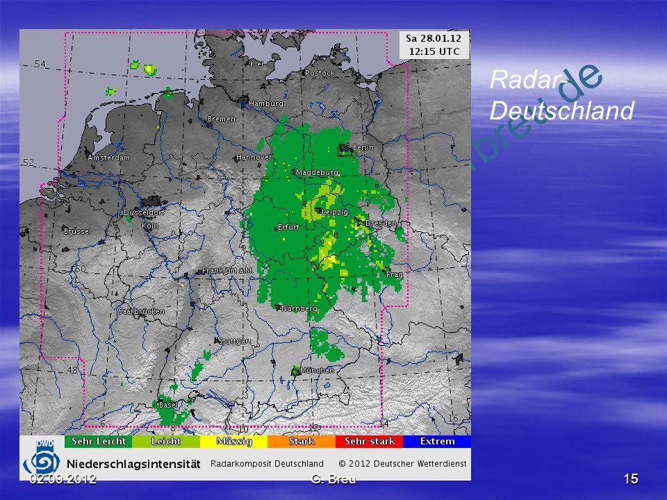 Radar- Deutschland 02.09.2012 G. Breu