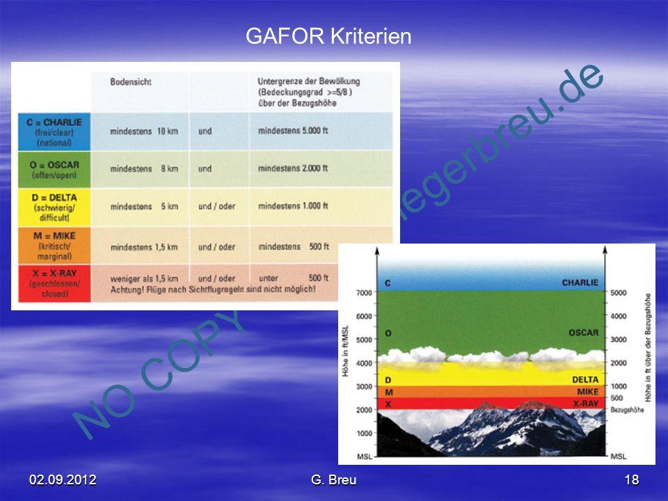 GAFOR Kriterien 02.09.2012 G. Breu